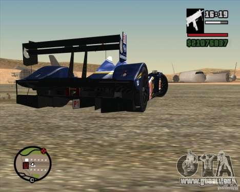 Acura ARX LMP1 für GTA San Andreas Seitenansicht