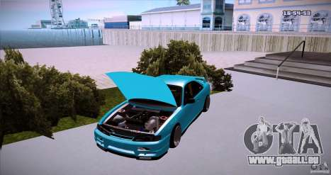 Nissan Silvia S14 JDM WAY für GTA San Andreas zurück linke Ansicht