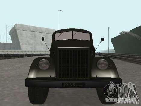 GAZ 51 p für GTA San Andreas Rückansicht