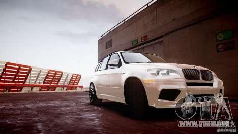 BMW X5M 2011 pour GTA 4 Vue arrière de la gauche