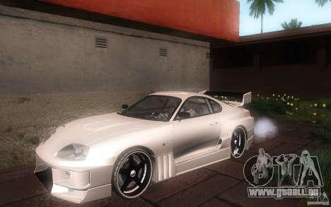 Toyota Supra Chargespeed pour GTA San Andreas vue de dessous