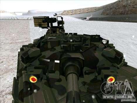 T-90 de Battlefield 3 pour GTA San Andreas vue intérieure