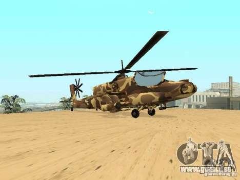 Nouvelles Textures pour le chasseur pour GTA San Andreas vue arrière