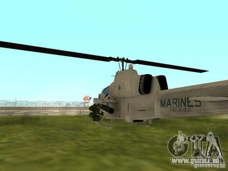 AH-1 Supercobra pour GTA San Andreas vue de droite