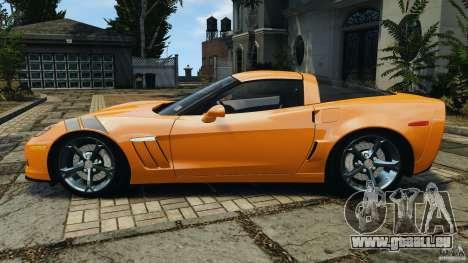 Chevrolet Corvette C6 Grand Sport 2010 pour GTA 4 est une gauche