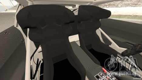 Audi R8 LMS pour GTA 4 est une vue de l'intérieur