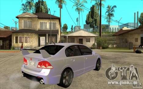 Honda Civic Mugen v1 pour GTA San Andreas vue de droite