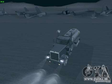 Kenworth Petrol Tanker pour GTA San Andreas vue de droite