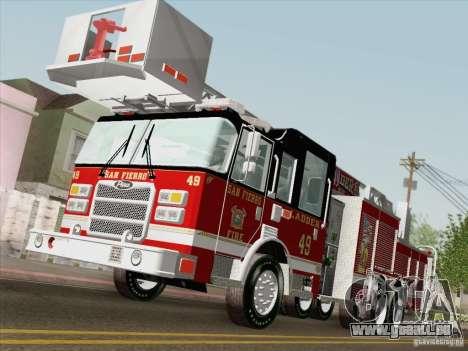 Pierce Rear Mount SFFD Ladder 49 für GTA San Andreas obere Ansicht
