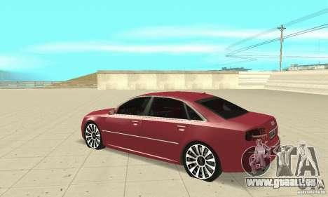 Audi A8L 4.2 FSI für GTA San Andreas Rückansicht