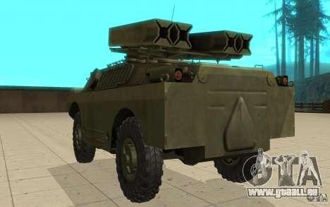 9 k 31 Strela-1 Standard pour GTA San Andreas sur la vue arrière gauche