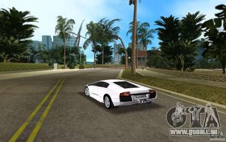 Lamborghini Murcielago V12 6,2L für GTA Vice City zurück linke Ansicht
