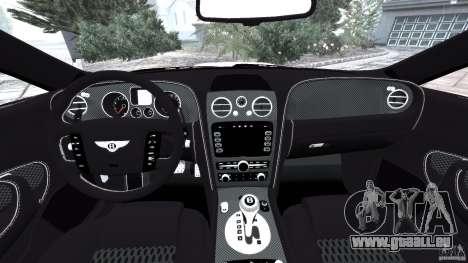 Bentley Continental GT Premier v1.0 pour GTA 4 Vue arrière