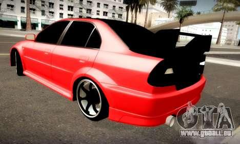 Mitsubishi Lancer Evolution 6 pour GTA San Andreas vue arrière