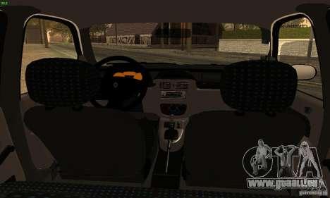 Renault Clio Sedan pour GTA San Andreas sur la vue arrière gauche