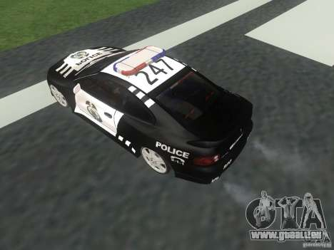 Pontiac GTO Police pour GTA San Andreas vue de droite