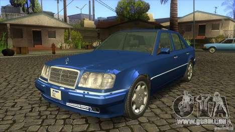 Mersedes-Benz E500 pour GTA San Andreas sur la vue arrière gauche