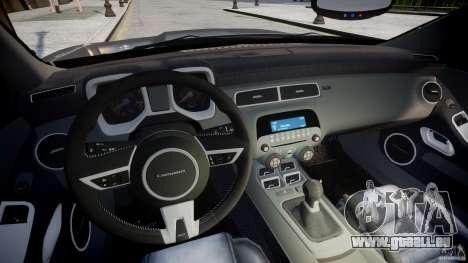Chevrolet Camaro SS 2009 v2.0 pour GTA 4 Vue arrière