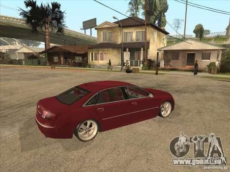 Audi A8 Switze pour GTA San Andreas vue de droite