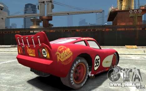 Lighting McQueen für GTA 4 rechte Ansicht