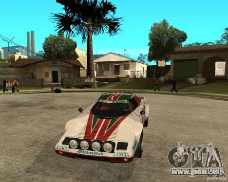 Lancia Stratos für GTA San Andreas Rückansicht