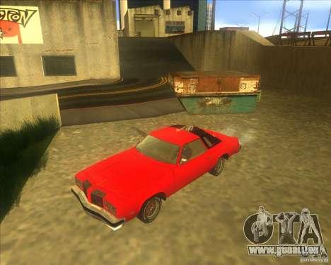 Oldsmobile Cutlass Supreme 1976 für GTA San Andreas zurück linke Ansicht
