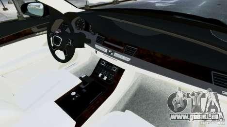 Audi A8 LED 2012 für GTA 4 Unteransicht