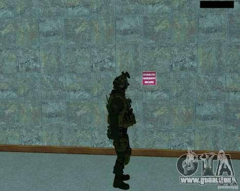 Le troisième soldat de la peau de Cod MW 2 pour GTA San Andreas quatrième écran