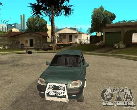 NIVA Chevrolet pour GTA San Andreas vue arrière