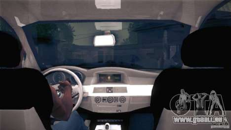 BMW M5 pour GTA San Andreas vue de dessous