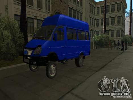 Gazelle 32213 taxi für GTA San Andreas Seitenansicht