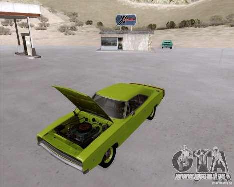 Dodge Charger RT 440 1968 pour GTA San Andreas vue arrière