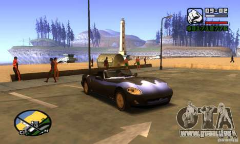 New Banshee [HD] für GTA San Andreas linke Ansicht