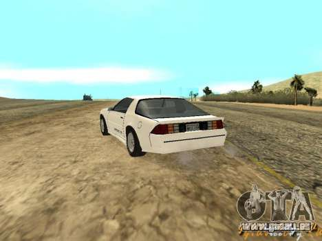 Chevrolet Camaro IROC-Z 1989 pour GTA San Andreas vue de côté