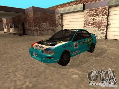 Subaru Impreza WRX STI 1995 pour GTA San Andreas vue de dessous