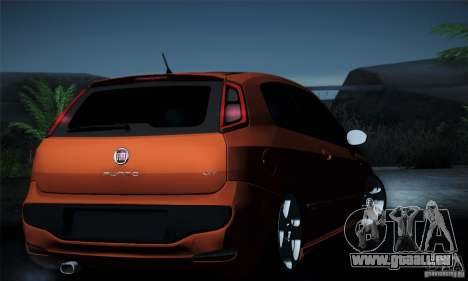 Fiat Punto Evo 2010 Edit für GTA San Andreas Innen