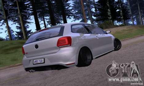 Volkswagen Polo GTI Stanced pour GTA San Andreas vue de droite