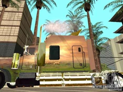 Kenworth W900 für GTA San Andreas zurück linke Ansicht