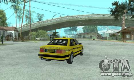 Audi 100 C4 (Taxi) für GTA San Andreas zurück linke Ansicht