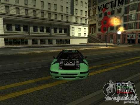 Teal Infernus pour GTA San Andreas vue de droite
