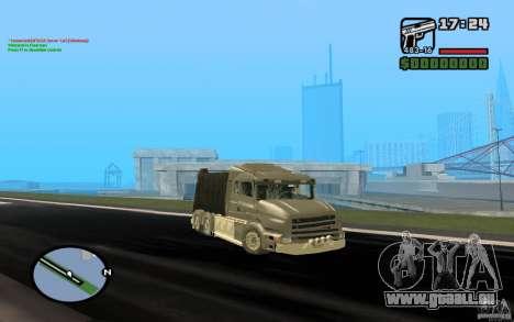 Scania T164-Müllwagen für GTA San Andreas linke Ansicht