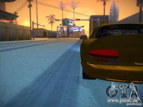 Dodge Viper 1996 für GTA San Andreas Unteransicht