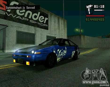 Toyota Trueno AE86 V3.0 pour GTA San Andreas