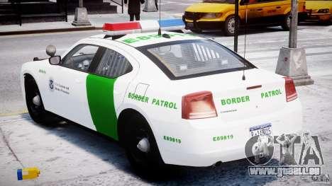 Dodge Charger US Border Patrol CHGR-V2.1M [ELS] pour GTA 4 est un côté