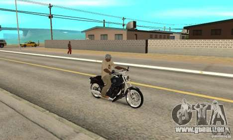 Harley Davidson FXSTBi Night Train für GTA San Andreas rechten Ansicht