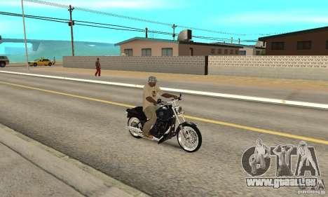 Harley Davidson FXSTBi Night Train pour GTA San Andreas vue de droite
