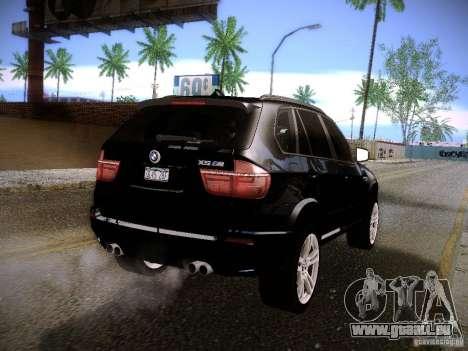 BMW X5M 2011 pour GTA San Andreas laissé vue