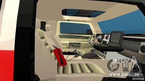 HUMMER H2 Amulance pour GTA San Andreas vue arrière