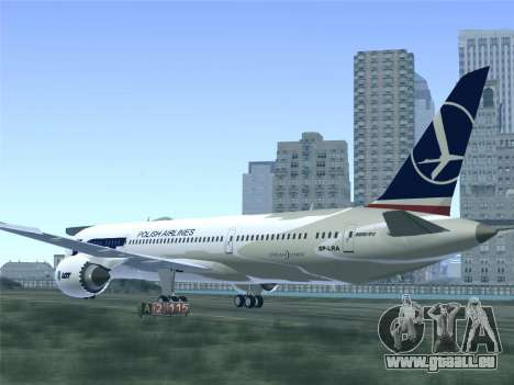 Boeing 787-9 LOT Polish Airlines für GTA San Andreas Räder