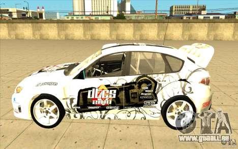 Subaru Impreza WRX STi avec unique nouveau vinyl pour GTA San Andreas moteur